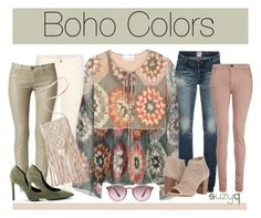 """""""Boho Colors"""" by polyvore-suzyq ❤ liked on Polyvore featuring Chloé, J Brand, Hudson, PRPS, dVb Victoria Beckham, Kendall + Kylie, Jessica Simpson, Ray-Ban, coloredskinnyjeans and bohotops"""