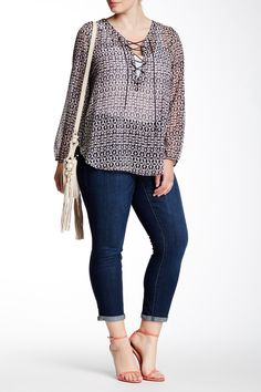 Jessica Simpson - Forever Rolled Skinny Jean (Plus Size) at Nordstrom Rack.