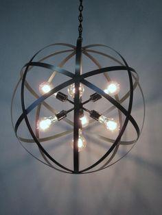 Industrial Chandelier, Sputnik Chandelier, Chandelier Lighting, Hanging Chandelier, Pendant Lights, Chandeliers, Edison Lighting, Antique Lighting, Orb Light Fixture
