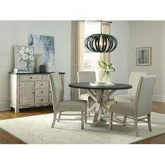 Ophelia & Co. Sinead Dining Table & Reviews | Wayfair Trestle Dining Tables, Pedestal Dining Table, Round Dining Table, Table And Chairs, Small Dining Area, Chairs For Small Spaces, Dining Table In Kitchen, Dining Furniture, Furniture Deals