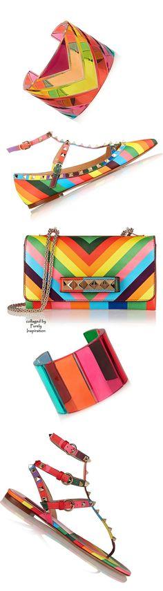 Valentino SS2015 Women's Accessories.   #fashion #style #stylish #beauty #model #dress #yudashkin #bright #glam #rainbow #valentino