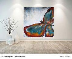 """Acrylbild abstrakte Kunst """"Schmetterling"""" von Meine kleine kunterbunte Welt - abstrakte Acrylbilder und Gartendekoration aus Mosaik auf DaWanda.com"""