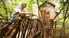 Dan Phillips builds low-income sustainable housing out of salvaged materials in Huntsville, Texas.