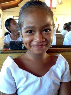 Beautiful Samoan school girl.