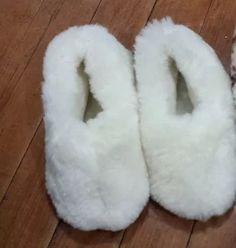 pantufas de lã de carneiro