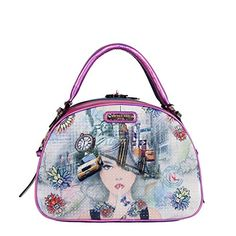 b0b0f8393 Shop for Nicole Lee New York New York Print Bowler Handbag. Get free  delivery at Overstock - Your Online Handbags Outlet Store!