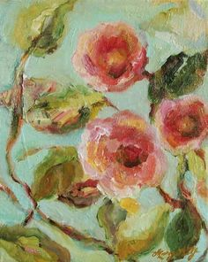 Impressionist Floral Painting Painting  - Impressionist Floral Painting Fine Art Print