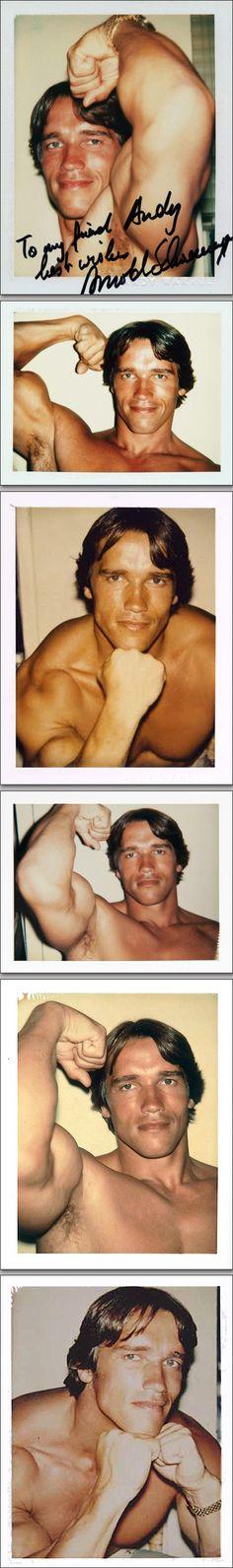 Arnold Schwartzenegger Polaroids by Andy Warhol, 1977
