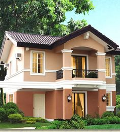 Ponticelli Subdivision, Bacoor Cavite Houses Or Lots in Cavite For Sale House Roof Design, Two Story House Design, 2 Storey House Design, Bungalow House Design, Balcony Design, Facade House, Modern House Design, Best Exterior House Paint, Exterior House Colors
