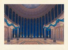 Disney Concept Art - the Ballroom Disney Concept Art, Disney Art, Walt Disney, Disney Wiki, Episode Interactive Backgrounds, Episode Backgrounds, Beauty And The Best, Disney Beauty And The Beast, Beast's Castle