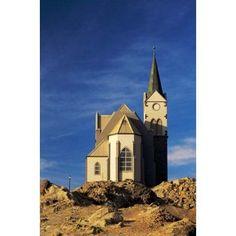 Namibia Luderitz Evangelical Lutheran Church Canvas Art - Charles Crust DanitaDelimont (12 x 17)