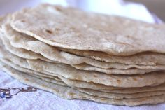 Barefeet In The Kitchen: Whole Wheat Tortillas