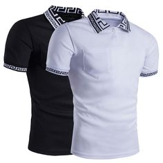 76dbdca7295 cool Fashion Men s Summer Slim Fit Short Sleeve Casual Solid Polo Shirts  T-shirt Hot
