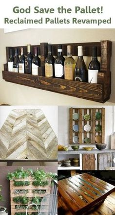 Pallet wine rack genius!