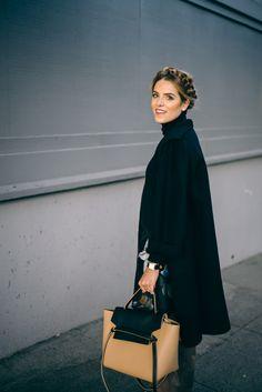 Gal Meets Glam Max Mara Coat, Celine Bag, and Milk Maid Braids