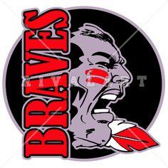 Mascot Clipart Image of Braves Graphic Logo Design