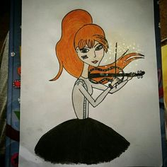 Lindsey stirling easy drawing