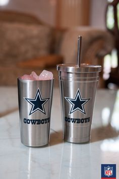 Down a big tall glass of victory with a perfect Dallas Cowboys metal cups  from Duck 1bac4e6c9