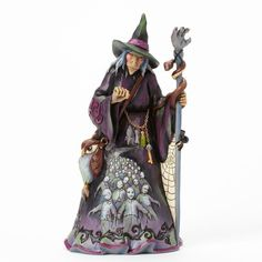 Jim Shore Halloween Figurine Nighty Nightmare Witch Zombie Scene 4041138