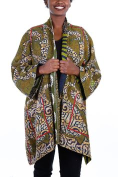 Kantha A Line Jacket #17