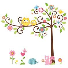 Zehui Wandtattoo Kinderzimmer Tür Festern Dekor bunt Eulen Baum entfernbar Wandstickers Zehui http://www.amazon.de/dp/B00F34YMGQ/ref=cm_sw_r_pi_dp_Sc.jwb13E524N