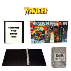 WOLVERINE Comic Book Collecting Starter Set Kit with Binder, Pages, and Comics -- To view further for this item, visit the image link.