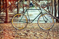 #Vintage #Raleigh #Fixie #Singlespeed Bike Cycle (Green Frame) 700C Yellow Wheels / £399