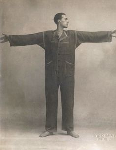 """Italian futurist Enresto Michahelles, aka Thayaht, of Florence his world famous """"Tuta"""" jumpsuit. When first released in 1919, Thayaht called it """"the most innovative, futuristic garment ever produced in the history of Italian fashion."""""""