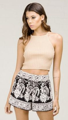 Sweater Halter Crop Top