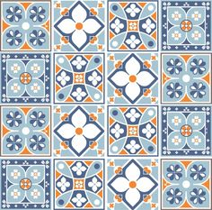 Traditional Portuguese tiles in the modern interior - Decoration Solutions Traditional Interior, Modern Interior, Pattern And Decoration, Tiles Texture, Portuguese Tiles, Mosaic Patterns, Ceramic Painting, Tile Art, Tile Design