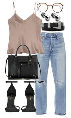 """""""Untitled #20067"""" by florencia95 ❤ liked on Polyvore featuring Citizens of Humanity, Etro, Balenciaga and Yves Saint Laurent"""