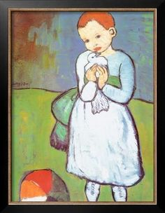 Child with a Dove, c.1901 Art Print by Pablo Picasso at Art.com