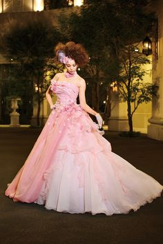 Yuri Ebihara in A Liliale Beautiful Pink Wedding Dress