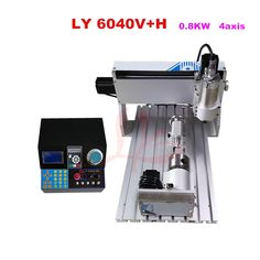 1275.00$  Watch here - http://aligbj.worldwells.pw/go.php?t=32761822886 - 3D CNC Router Machine 6040V+H 800W Spindle, for metal wood milling