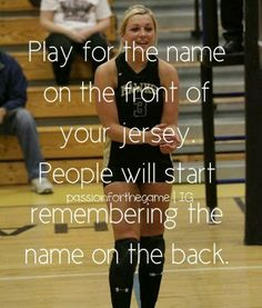 I really like this quote! For any sport! I think more parents need to tell their… I really like this quote! For any sport! I think more parents need to tell their children this! Stop being an individual and start playing as a TEAM! Volleyball Motivation, Sport Motivation, Quotes Motivation, Softball Quotes, Basketball Quotes, Sport Quotes, Girls Basketball, Inspirational Volleyball Quotes, Girls Softball