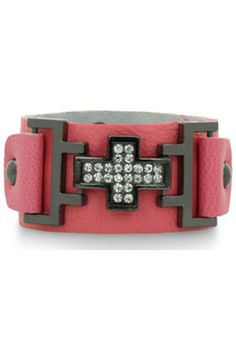 SuperJeweler Pretty in Pink Leather...   $49.99