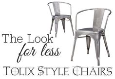 The Look for Less: Tolix Chairs- Chairs for the new table!