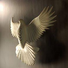 Peace Dove by Jason Tennant, inspirational , wedding gift,  get well gift, Christmas, Hanukkah. $375.00, via Etsy.
