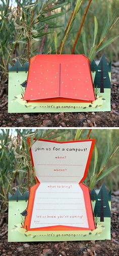 Free Camping Invite Printable! @Wendi MacMahon I see you pin stuff for a camp party for John, here is something to add.