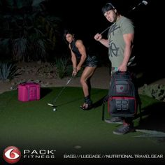 DLB and Rob Bailey. And people say golf is boring... #dlb #travelfit