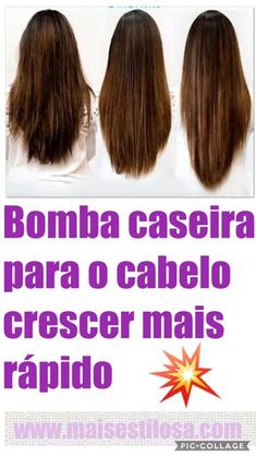 Bomba caseira para o cabelo crescer mais rápido!