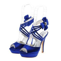 Royal blue shoes wedding