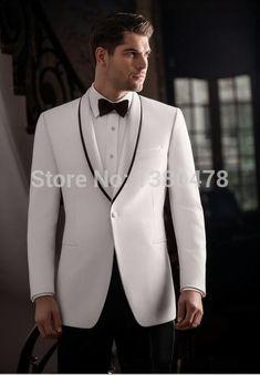 2016 Fashion Men Suits Customize Handsome Men's Complete Designer Tuxedo Bridegroom (jacket+Pant+Girdle+Tie)Free Shipping
