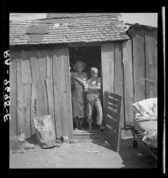 great depression pictures of nc | People living in miserable poverty, Elm Grove, Oklahoma County ...