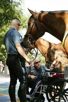 For a girl who loves horses and is used to wide open spaces, being stuck at a hospital in midtown Kansas City was difficult...but this Mounted Patrol took the time to bring joy to sick girl. Good job by these Kansas City Missouri Police Officers!  http://loveahero.com #LoveAHero #america #brave #brothers #courage #dogs #dog #freedom #family #hero #honor #love #pride #policeman #police #puppy #policedog #patriot #respect #sisters #supportourpolice #thankyou #usa #warrior