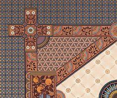 Victorian Art Wallpaper | Anglo-Japanese Apricot | Bradbury & Bradbury