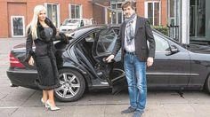 Sophia Wollersheim mit Chauffeur John