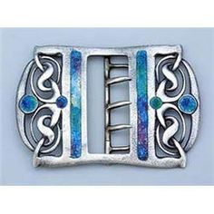 A Liberty & Co. enamelled silver buckle, designed by Archibald Knox, of almost rectangular shape, th Metal Jewelry, Jewelry Art, Archibald Knox, Art Nouveau Jewelry, Celtic Art, Arts And Crafts Movement, Silver Enamel, Archie, Love Art