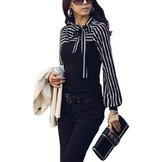 Allegra K Women Self Tie Knot Stand Collar Striped Autumn Shirt Black XS Allegra K,http://www.amazon.com/dp/B007WA3K4Y/ref=cm_sw_r_pi_dp_wY64rb06693DEG36