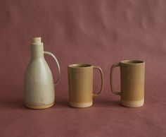 Jug and large mugs by Helen Levi